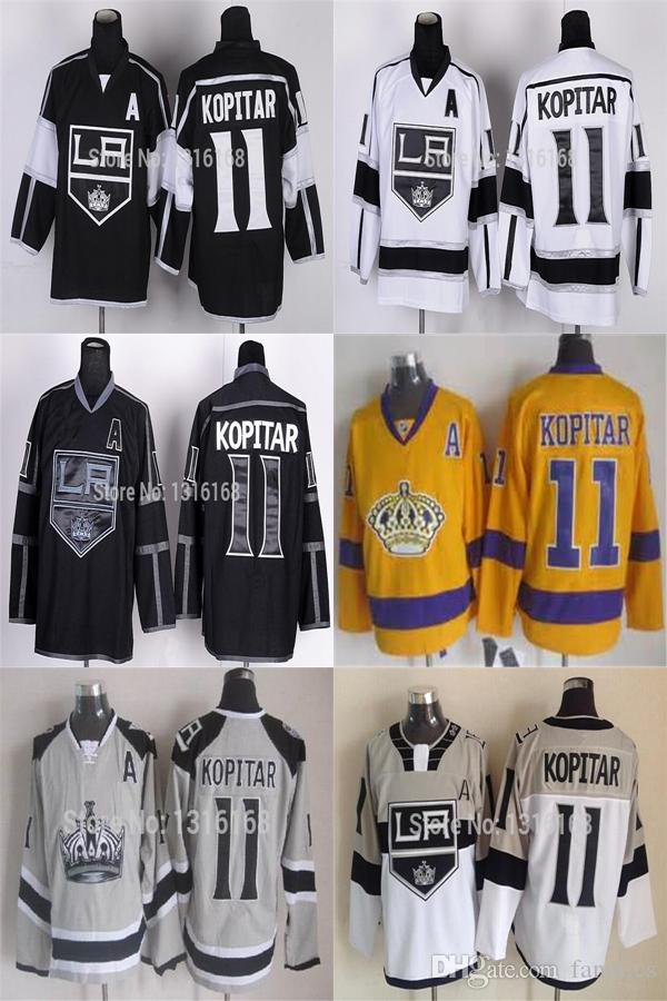 2016 Los Angeles Kings  11 Anze Kopitar Jersey Mens Stadium Series LA Kings  Jerseys Kopitar Black White Gray Yellow Digital Camo UK 2019 From Fanatics bc6106c19