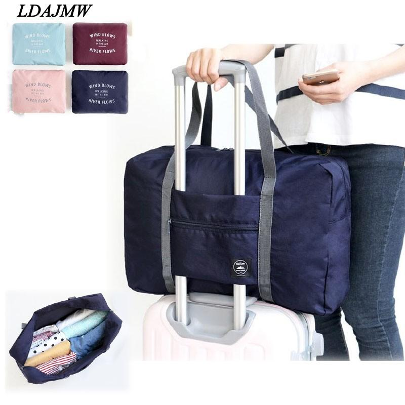 efd2c15e90 2019 Ldajmw Hot Casual Large Capacity Luggage Packing Tote  Shoulder Travel  Shopping Big Bag Folding Clothes Storage Pouch Organizer From Hopestar168