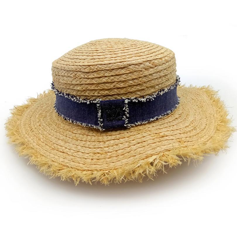 GGOMU Fashion Cap M Letter Flat Top Sun Hats For Women Summer Vacation  Girls Beach Hat Wide Brim Lady Straw Hat ZLH 069 Hat Styles Wool Hat From  Juaner bae0c1e954b