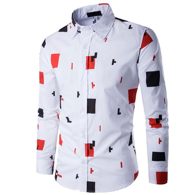Acquista 2018 Nuovi Uomini Di Marca Vestiti Top Camicie A Maniche Lunghe Moda  Casual Uomo Slim Fit Camicia A Quadri Plaid Abbigliamento Plus Size C05 A  ... 88f8f7606436