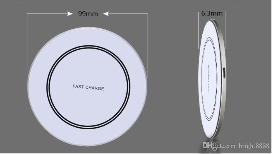 Samsung iphone adet telefon hızlı şarj için ultra ince aynalı metal masaüstü kablosuz şarj