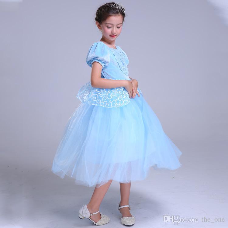 2f59b6f8be495a 2018 Nouvelle Mode Belle Robes Princesse Enfants Halloween Party Cosplay  Robes Robes De Noël Pour Adolescent Fille