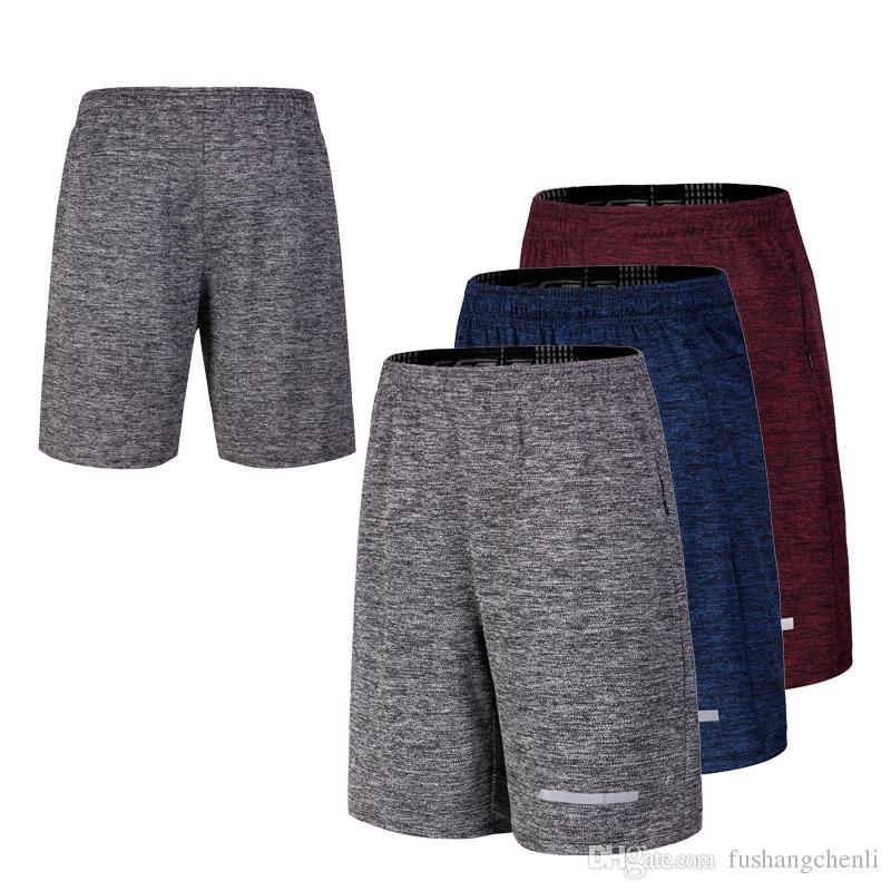 f3495d484c1e Men Compression Shorts Quick Dry High Waist Drawstring Loose Shorts ...