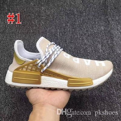 63713679c 2018 Pharrell Williams Human Race Hu Trail Holi Mens Running Shoes Peace  Passion Happy Youth Heart Human Races Trainers Zapatos Sneakers Human Race  Mens ...