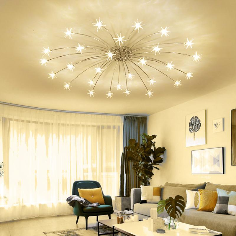Modern Led Ceiling Light Ice Flower Glass Bedroom Kitchen Children Room  Ceiling Lamp Designer Lighting Fixtures