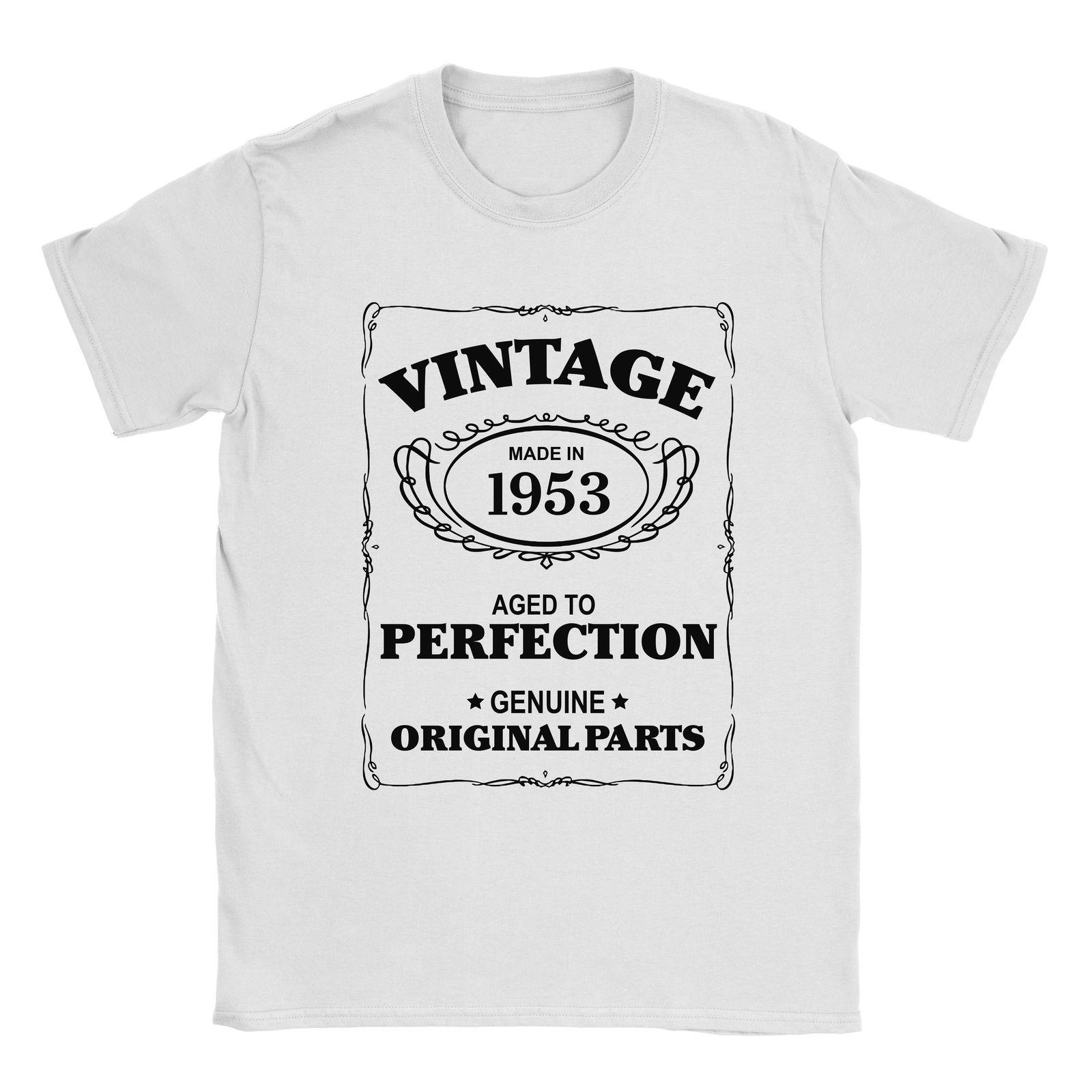 65th Birthday T Shirt Born In 1953 Mens Present Gift Age Aged To Perfection Cool Casual Pride Men Unisex New Fashion Tshirt Clothes Crazy