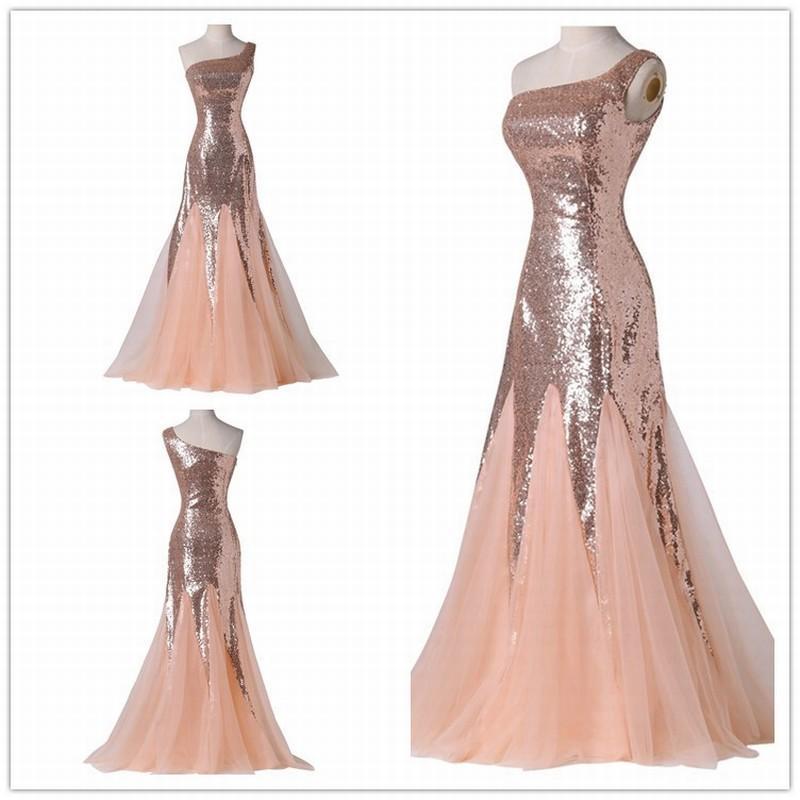Abendkleid lang rosa pailletten