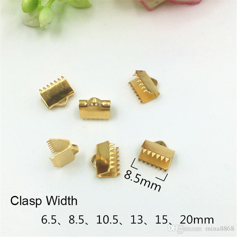 100 teile / los Kabel Crimp End Perlen edelstahl Schnalle Tipps Verschluss Für Schmuck Machen Halskette Armband Schnüre Anschlüsse DIY Schmuckzubehör