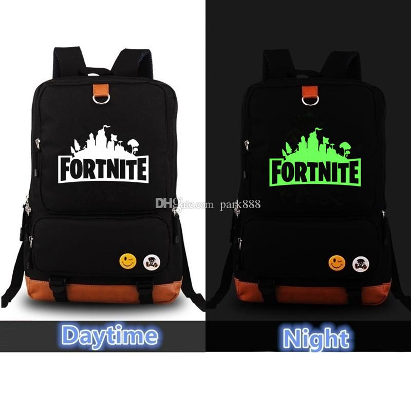 b95f49b96d 2019 Fortnite Luminous Backpack Unisex Kids School Shoulder Bags Night  Light Backpack Teenager Students Bag Sports Travel Tote Xmas From Park888
