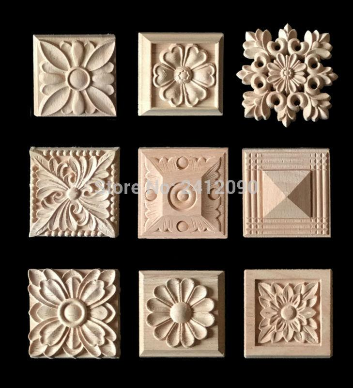 2018 Cabinet Door Wood Carving Appliques Natural Wood Crafts Furniture  Accessories Flower Alphabet Decorative Mouldings Decals From Lienal, $42.7  | Dhgate.