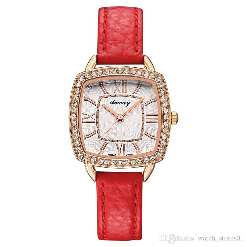 e98cdb7e6106 Compre Moda Dama Reloj De Cuarzo Elegante Vestido De Las Mujeres Diamante  Famosa Marca De Lujo Relojes De Pulsera De Acero Inoxidable Relojes  Cuadrados A ...