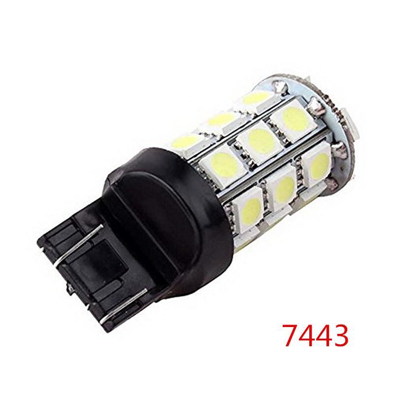 Super bright Car LED Lights Bianco 1156 1157 7440 7443 3156 3157 27-SMD 5050 Car Turn Signal lampadine luci di retromarcia 12 V durata della vita lunga