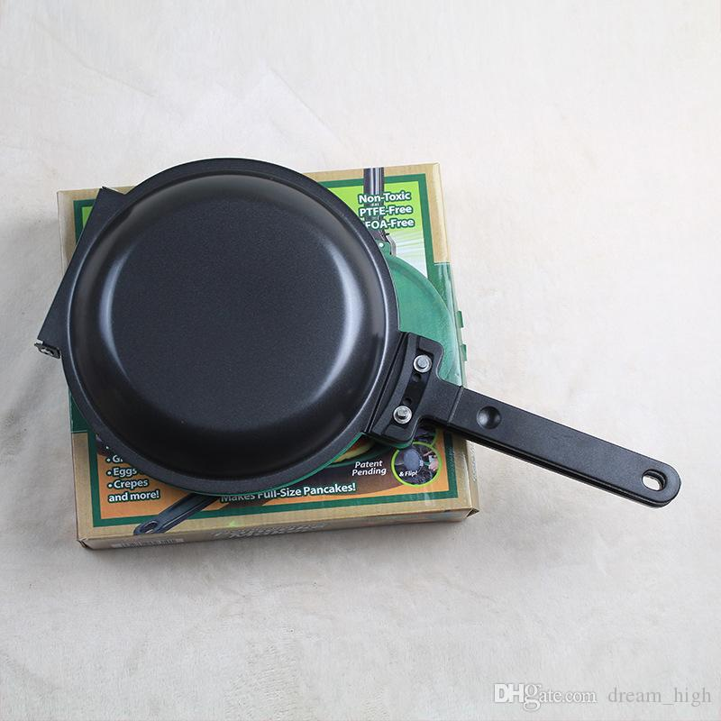 Flip Jack Ceramic Green Non-Stick Pancake Maker Mexico Cake Cookware Double Sided Frying Pan Kitchen Cooking utensil
