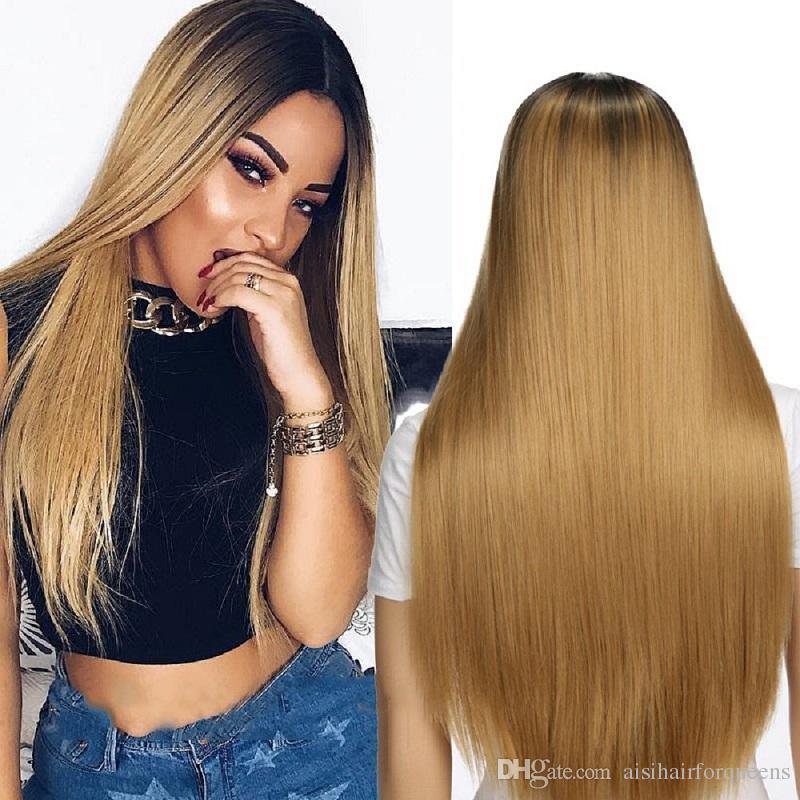 Straight Dark Blonde Hair