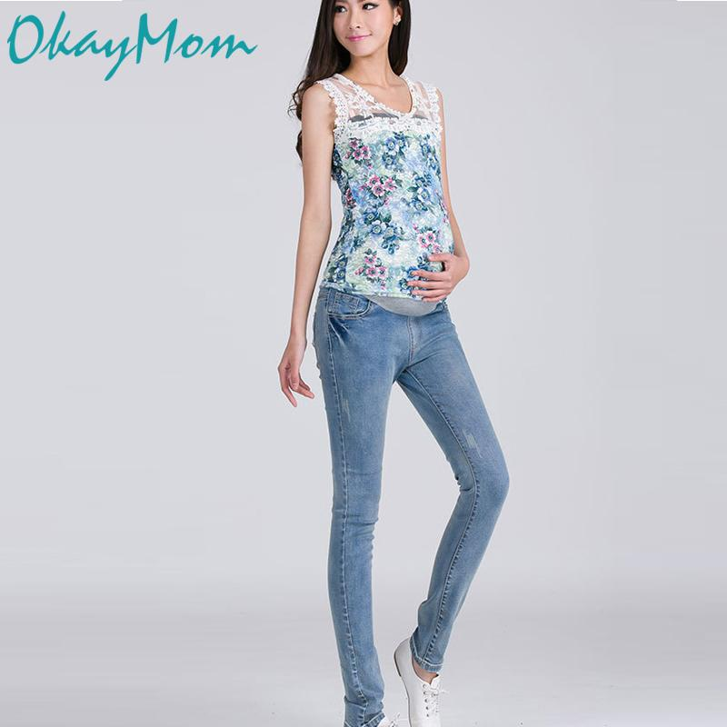 7c1ce17cc16b2 2019 Blue Maternity Jeans Maternity Pants Clothes For Pregnant Women  Pregnancy Wear Elastic Waist Belly Support Clothing Hot Sale From Hanlley,  ...
