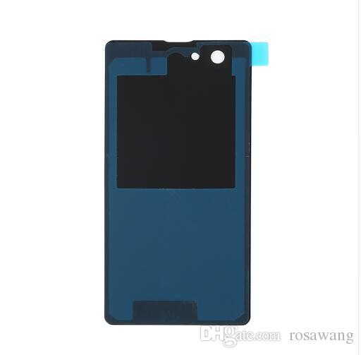 Para Sony Xperia Z1 Compact D5503 Cubierta de la batería Cubierta de la puerta Cubierta trasera trasera Caso Piezas de repuesto negro amarillo blanco