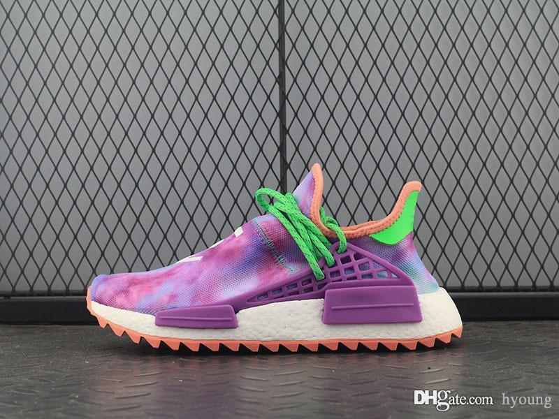 6b54b1aaa575d 2019 2018 NMD Holi Pink India X NMD Human Race Hu Trail AC7034 Women Men  Running Shoes Sneakers Pharrell Williams Sports Sneaker 5 11 From Hyoung