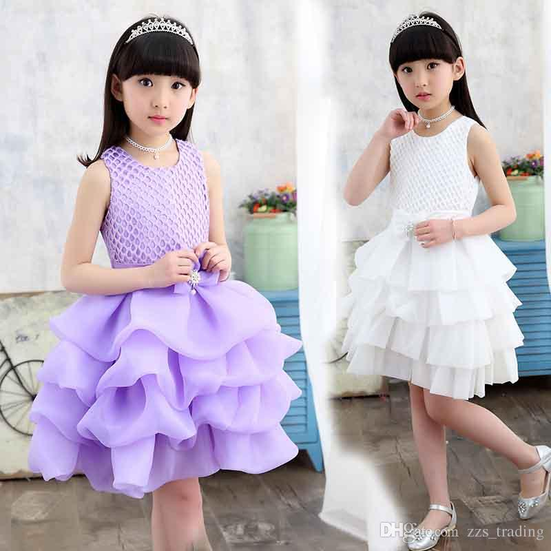 421dfc9d2839 Latest Styles Kids Girls Flower Dress Baby Girl Birthday Party ...
