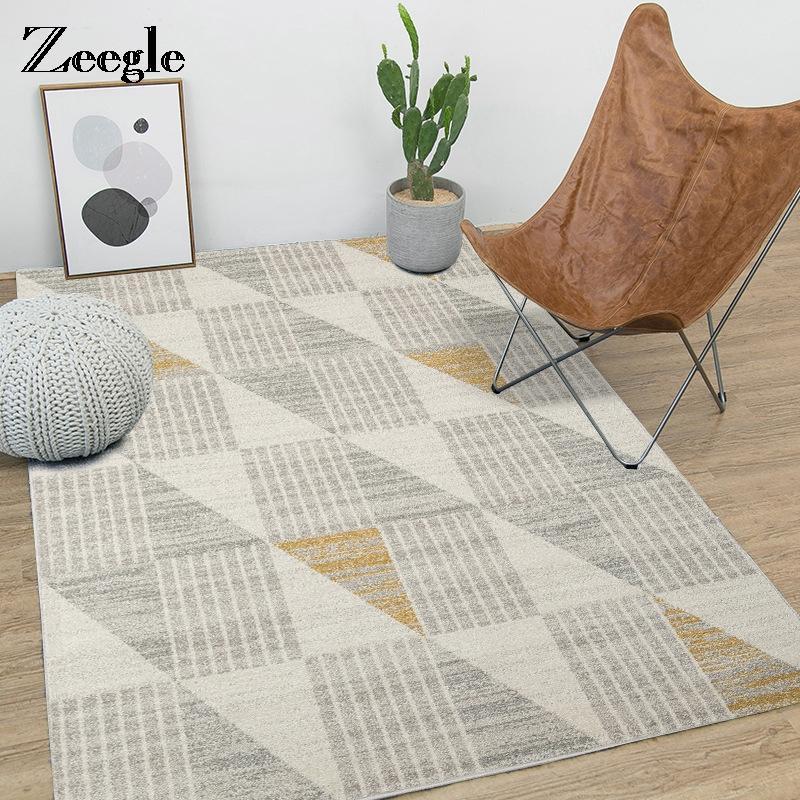 Zeegle Modern Nordic Living Room Carpet Anti Slip Soft Kids Bedroom