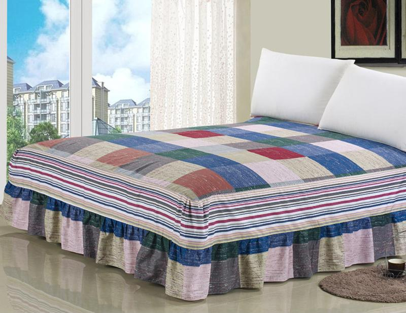 Retro Cotton Bed Skirt Mattress Cover Petticoat Twin Full Queen King