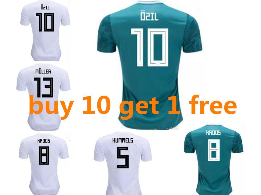 da54d349133 2019 Germany Soccer Jersey World Cup 2018 MULLER OZIL KROOS HUMMELS WERNER  Shirt DRAXLER Jersey Football Kit Shirt Fans Player Version Men Women From  ...