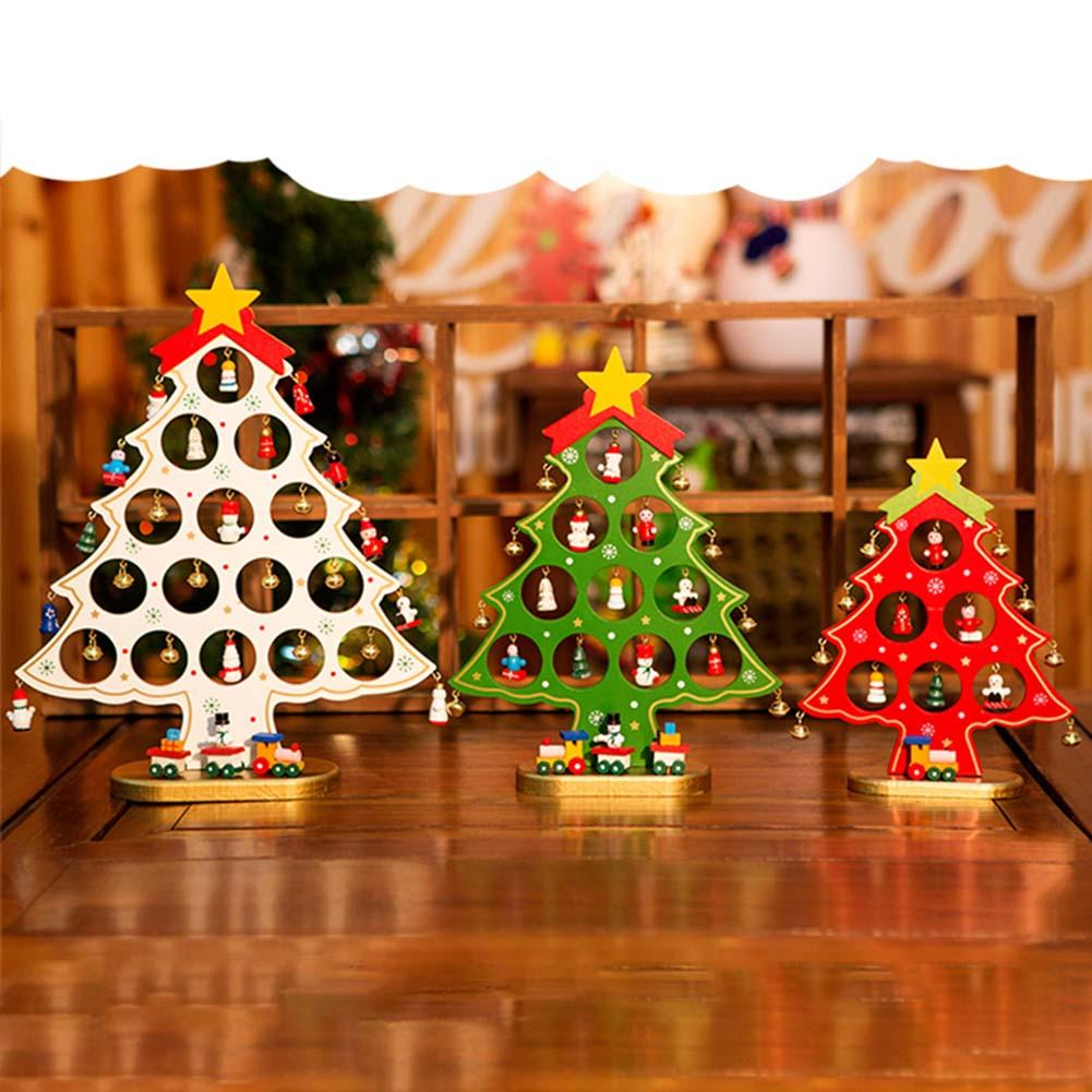 3 sizes wooden artificial christmas tree decorations ornaments wood mini christmas trees gift ornament table decoration the christmas shoppe ornaments top - Mini Christmas Decorations