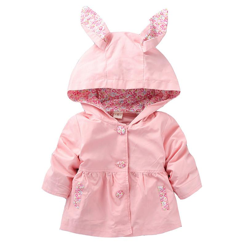 772aac2ce53e 1-4T Cute Rabbit Ear Hooded Girls Coat New Spring Top Autumn Kids ...