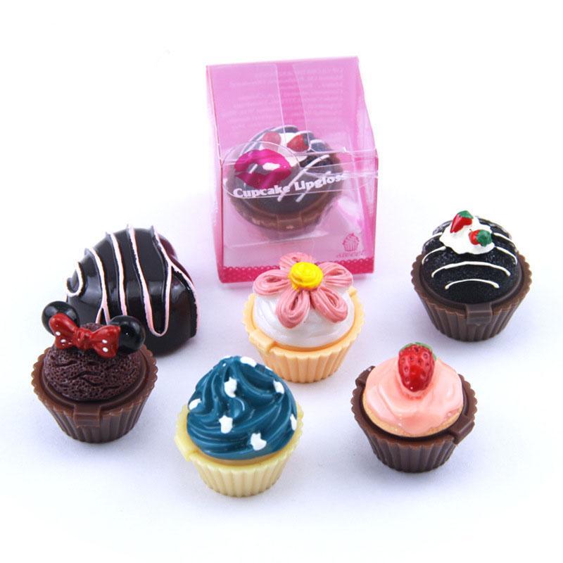Grosshandel Cupcake Lipgloss Balm 6 Aromatisierte Glossen Balsam