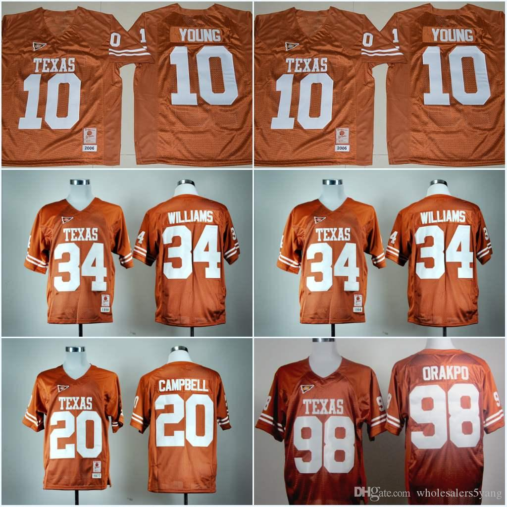 9417a8641 ... coupon code texas longhorns 7 shane buechele 10 vince young 20 earl  campbell jersey 34 ricky