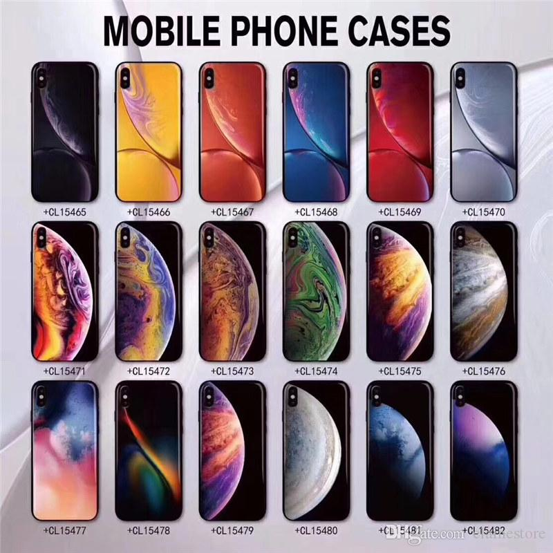 Tempered Glass Phone Case For Iphone Xs Max Xr Xs Luxury 3d