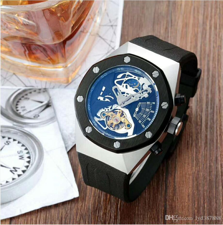 Top Selling Luxury Watch Special Men Rubber Band Gold Stainless Steel Automatic Mechanical T Men Men's Watch Watches A3