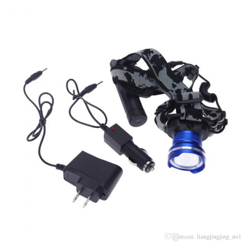 Fari a LED Potenti fari anteriori a luce variabile Fari a batteria a 4 modalità Fari campeggio Escursionismo Arrampicata OOA4452
