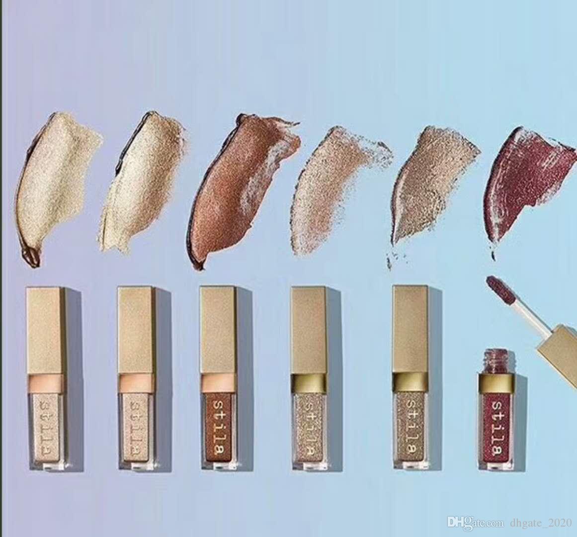 EM ESTOQUE!!! Olho Para Elegância Set Shimmer Glitter Líquido EyeShadow Conjunto de Viagem paletas de maquiagem DHL
