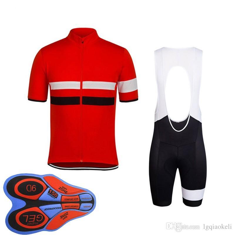2018 رافا الدراجة الجبلية جديد الصيف بأكمام قصيرة ركوب الدراجات جيرسي عدة رجال السريعة الجافة وركوب القمصان والسراويل مريلة مجموعة 9D هلام وسادة D1795
