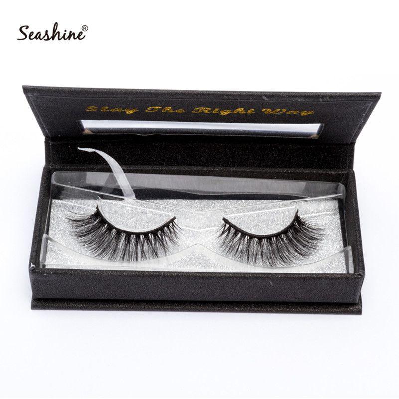 af05bef7643 Seashine False Eyelashes Extension Handmade Fake Lash 100% Real Mink ...