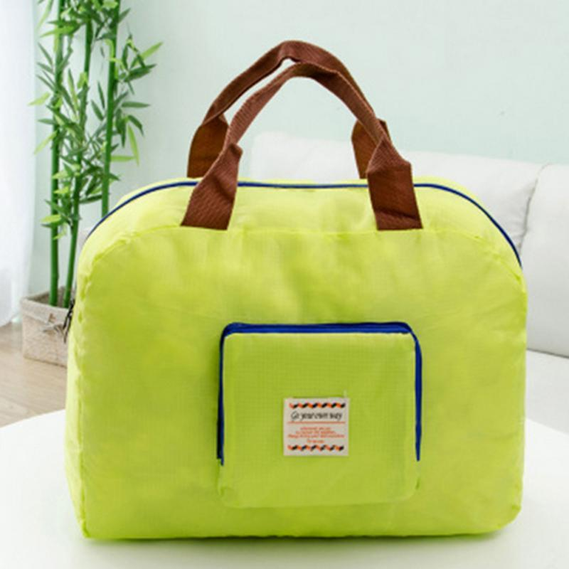 1 adet Yeni Yüksek Kalite Taşınabilir Katlanır Alışveriş Çantaları Kullanımlık Seyahat Çanta Omuz Saklama Torbaları