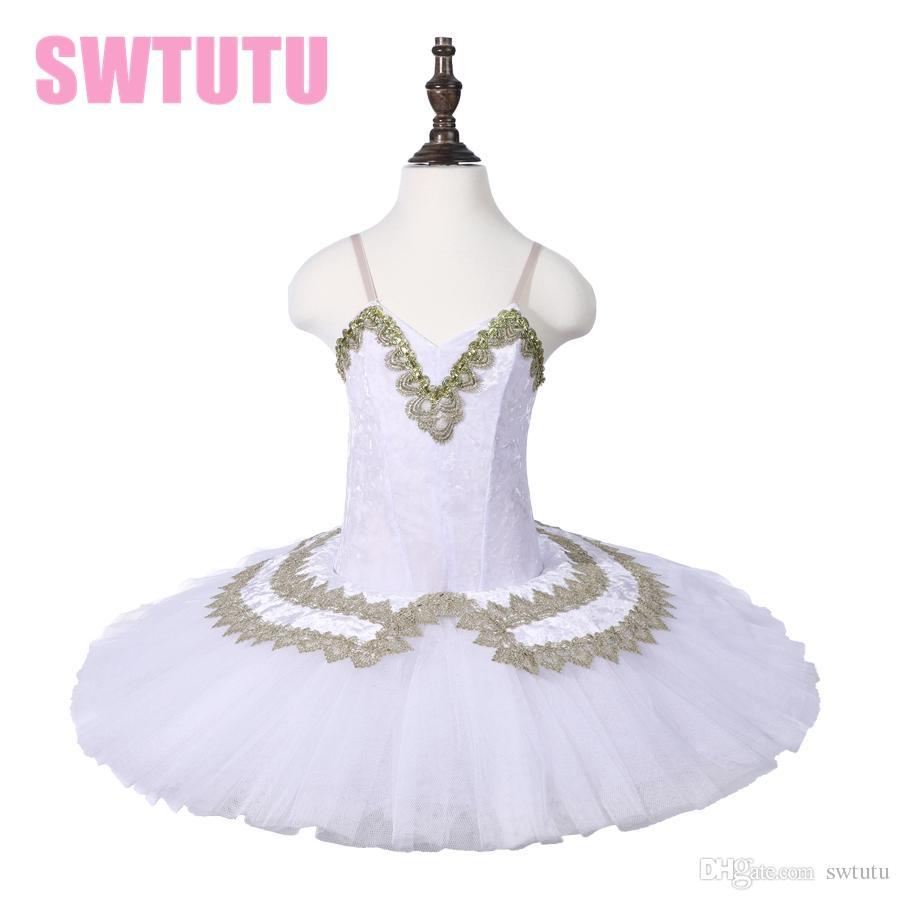 8a7ec4451 2019 Ballet Dancing Performance Stage Tutu Dress Kids White Classic ...
