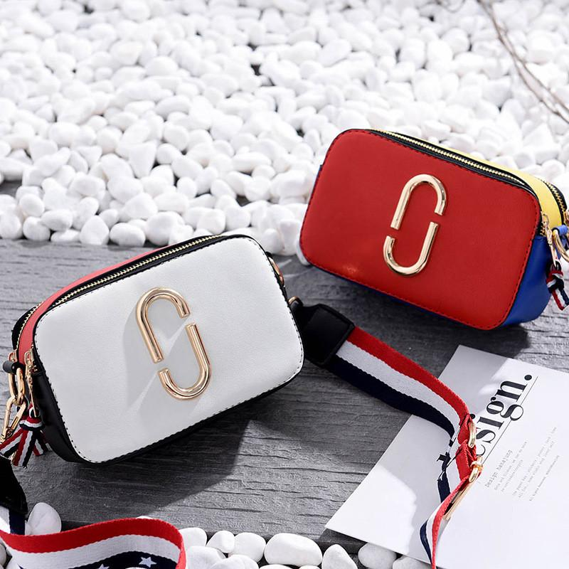 3019f1611f8 Designer Shoulder Bags Women Crossbody Bags Female Flap Package Girls  Messenger Bag PU Leather Camera Package Hit Color Shoulder Bags