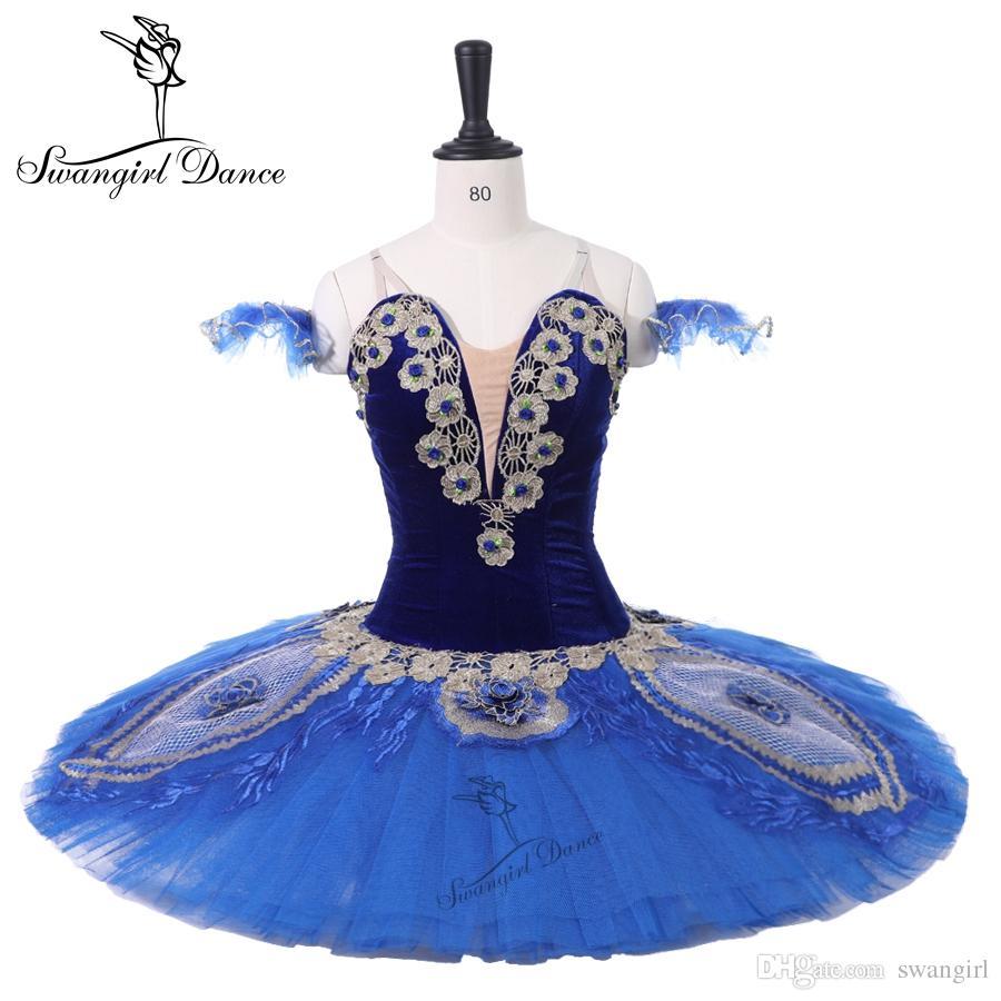 8dfa29afc Niñas Profesional Tutus Blue Bird Competiton Ballet Etapa Ballet Tutu  Performance Dance Costumes Vestido BT9215