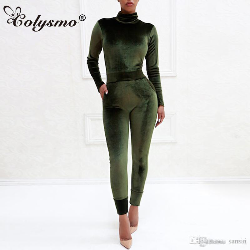 8a85a5f6181c Colysmo Long-sleeved Corduroy Jumpsuit Collar Collar Spring And ...