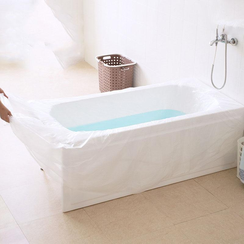 2018 Extra Large Disposable Travel Bathtub Film Thicken Foldable Bathtub  Cover Bag Family Hotel Bath Tub Film Hygiene Essentials From Donaold, ...