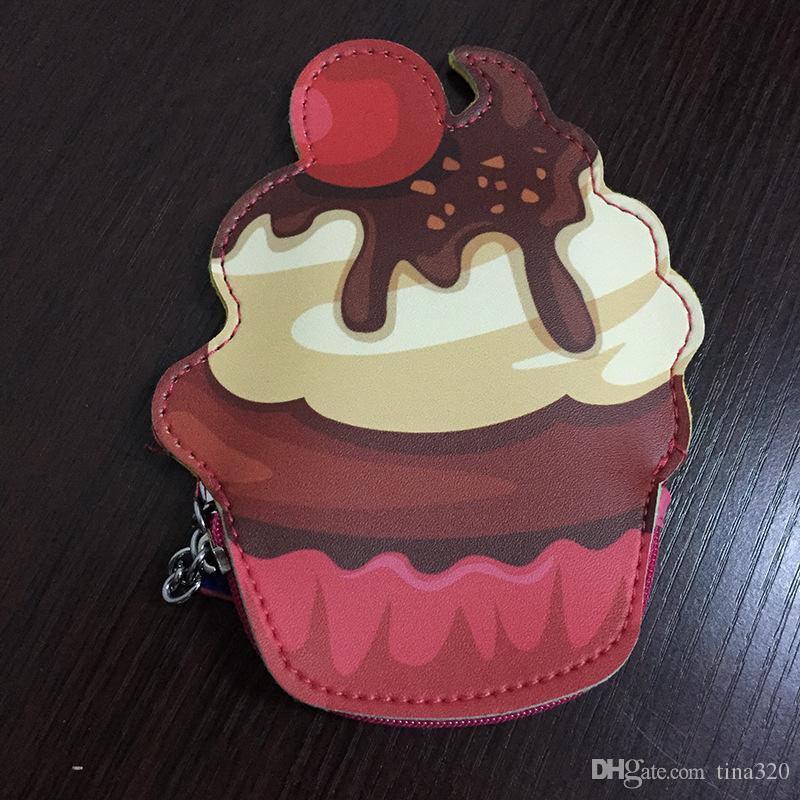 Hot sale creative coin purse Lovely cartoon Ice cream shape Zero wallet zipper coin bag T3D00034