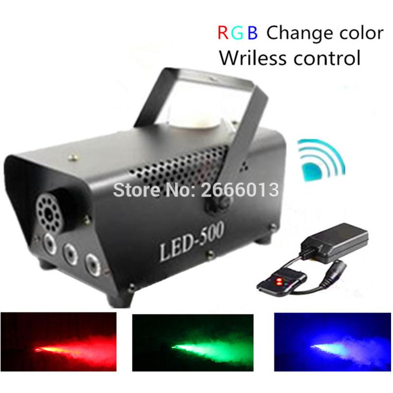 Freeshipping High Quality Wireless Control LED 500W Smoke Machine/RGB Color LED Fog Machine/Professional LED Fogger Stage 500W Smoke Ejector
