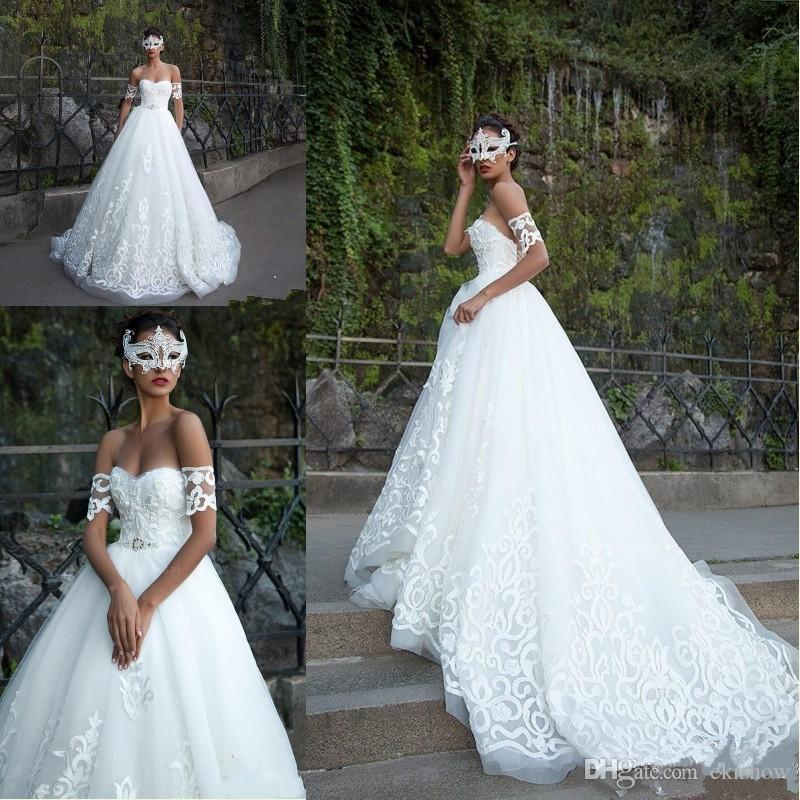 698c68499e642 Discount 2018 Milla Nova Sexy Sweetheart Country Plus Size Wedding Dresses  Lace Applique Court Train Wedding Gowns Bridal Gown Vestido De Novia Casual  ...