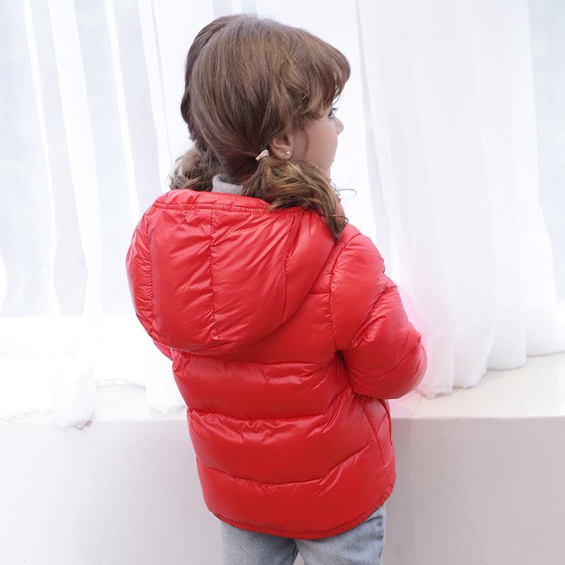 2016 Yeni Bebek Erkek Ceket Bebek Kız Ceket Çocuklar Sıcak Kış Kapşonlu Coat Çocuk Giyim erkek Aşağı Ceket çocuk ceketleri 3-7years