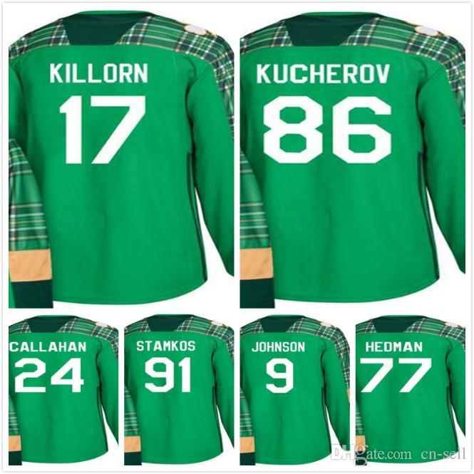 1f1d1d6ca 2019 2018 St. Patrick 91 Steven Stamkos Ryan Callahan Tyler Johnson Nikita  Kucherov Victor Hedman Alex Killorn Tampa Bay Lightning Hockey Jersey From  Cn ...