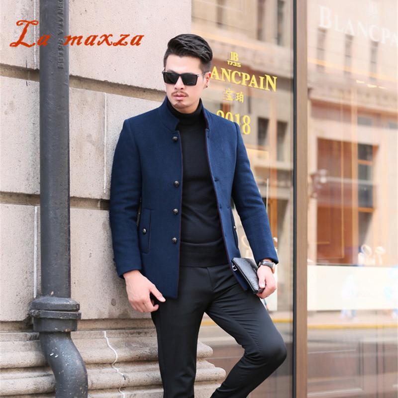 9941a67d79a762 2018 Smart Casual Mens Winter Mäntel Mäntel Mode Schlank Winter Warmer  Kleid Mantel Neuheiten 4XL