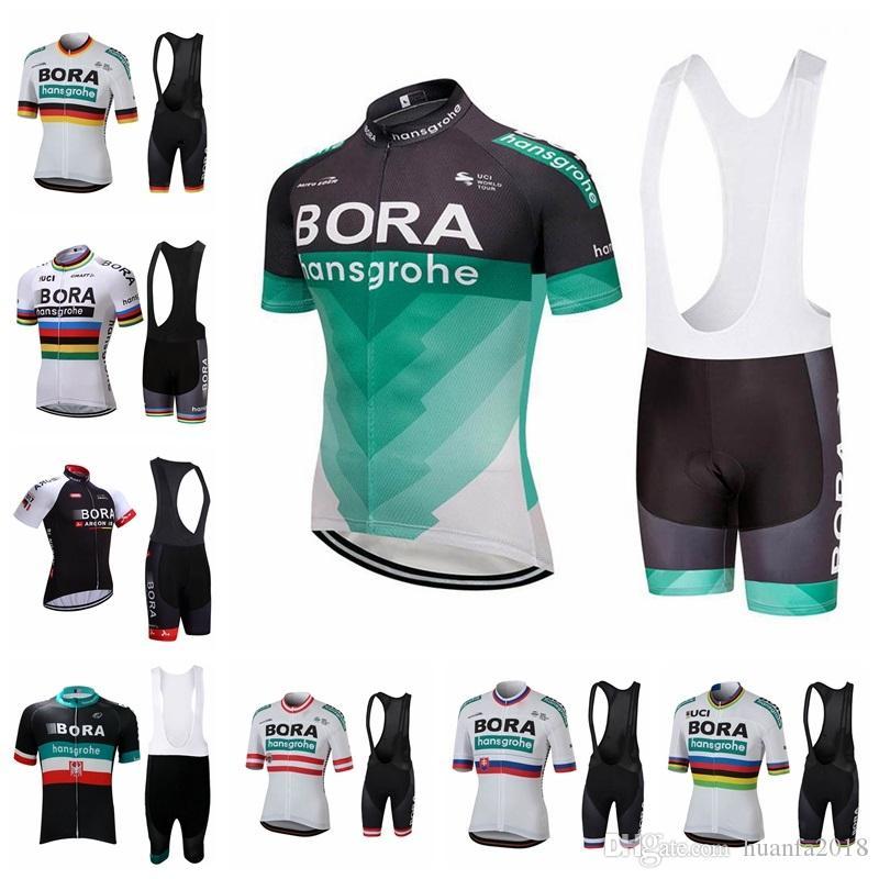 2018 New Explosion Hot Sale Bora Team Cycling Short Sleeves Jersey Bib Shorts  Sets Bicycle Clothing Lycra Summer MTB Bike 62701 Bora Cycling Jersey Ropa  ... 42cb4b6bf