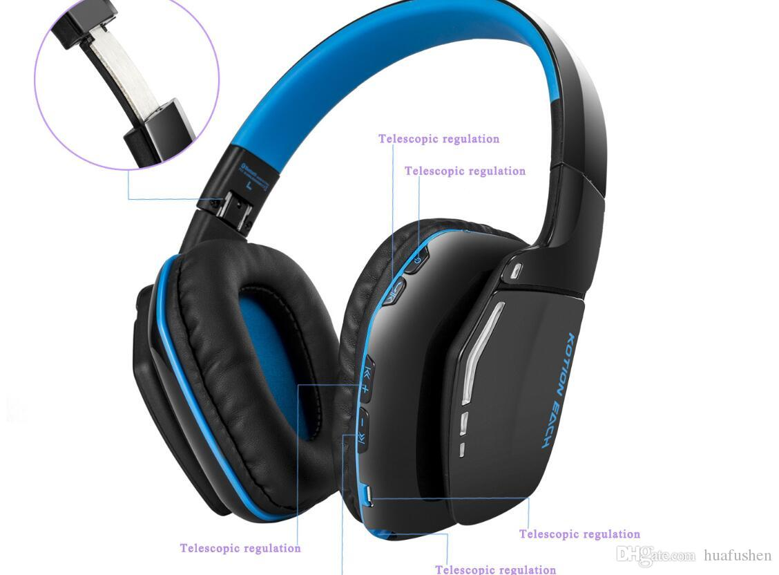 Bluetooth Headphones Wireless Headset Foldable Gaming Headset V4 1 With Mic For Psmac Smartphones Computers Headset Bluetooth Headphones From Huafushen 36 99 Dhgate Com
