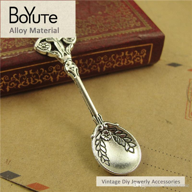 BoYuTe  60*15MM Zinc Alloy Materials Multicolor Vintage Style Spoon Pendants Charms for Jewelry Making Diy Accessories